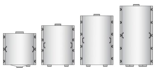 Examples of heights of the sieve-stack housing